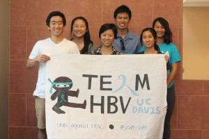 Making the poster for Team HBV!